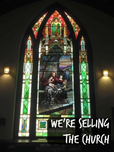 we're selling the church